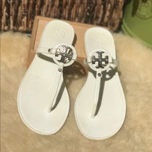 TORY BURCH🍁White Jelly Sandals Sz 8